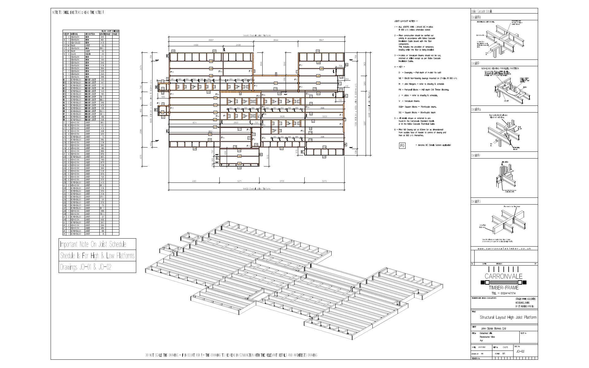 Vertex BD Timber Frame Layout