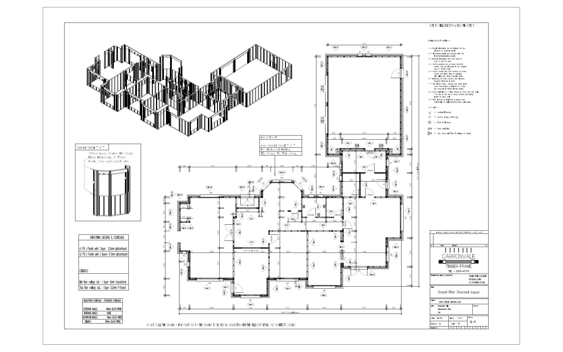 Vertex BD Timber Frame Layout