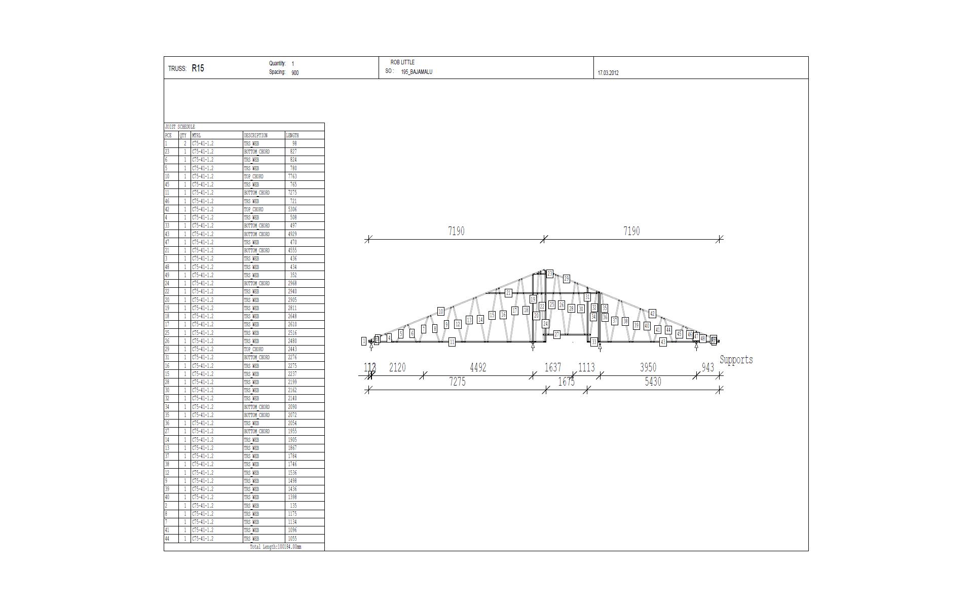 Vertex BD Cold-Formed Steel Truss