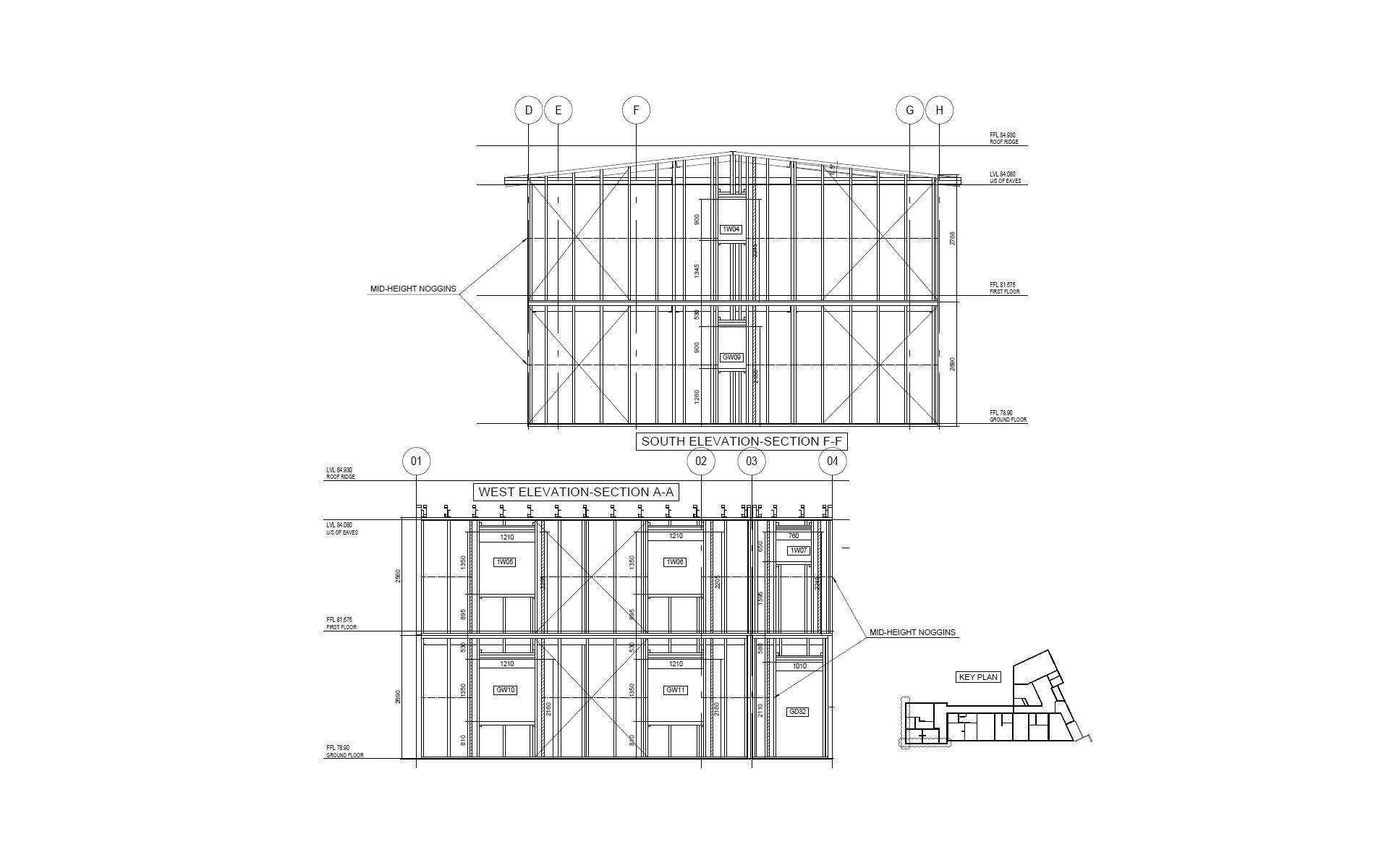 Vertex BD Cold-Formed Steel Framing Elevation Section